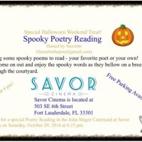 Spooky Poetry Evening