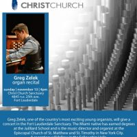 Greg Zelek Organ Recital